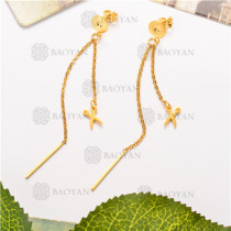 Aretes de Acero Inoxidable para Mujer -SSEGG126-6166