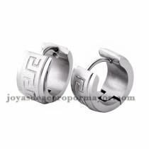 argollas 13 mm diseno moda en acero plateado inoxidable -SSEGG274095