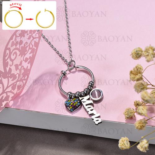 collar de DIY en acero inoxidable -SSNEG143-15517