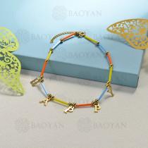 pulseras de bolitas natural con charms -SSBTG142-16196