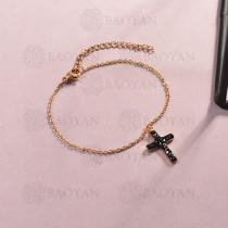 Pulsera de Acero Inoxidable Cristal para Mujer -SSBTG143-14811-R