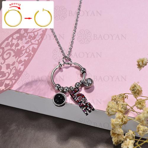 collar de DIY en acero inoxidable -SSNEG143-15509