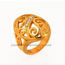 Anillo de lujo dorado y hermoso para damas venta online