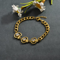 pulsera de acero inoxidable para mujer -SSBTG95-15270