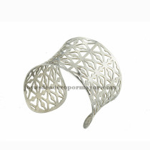 pulsera de malla de plateado en acero inoxidable para mujer-SSBTG213212