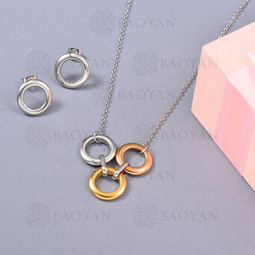 Conjunto de Collar en Acero Inoxidable -SSNEG126-13064