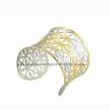 pulsera de malla de plateado y dorado en acero inoxidable para mujer-SSBTG213213