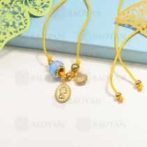 collar de charms en acero inoxidable -SSNEG142-16214
