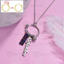 collar de DIY en acero inoxidable -SSNEG143-15472
