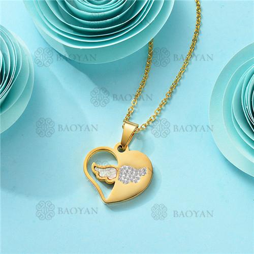 Collar de Acero Inoxidable para Mujer -SSNEG143-11364