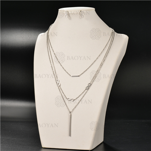 Collar Multicapa en AceroSSNEG126-4928