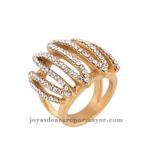 anillos de acero inoxidable con perlas para las mujeres
