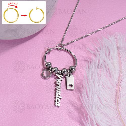 collar de DIY en acero inoxidable -SSNEG143-15480