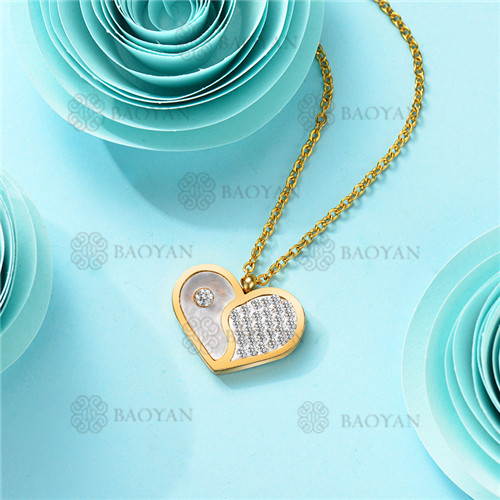 Collar de Acero Inoxidable para Mujer -SSNEG143-11368