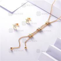 conjunto de dorado en acero inoxidable-SSNEG126-9899