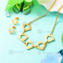 conjunto de joyas acero inoxidable -SSNEG126-9739