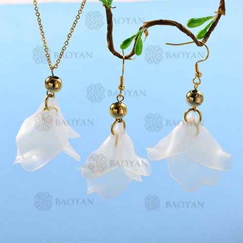 Conjunto de Collar y Aretes Fatansia -SSNEG142-12769