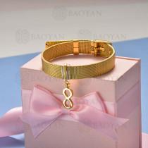 pulsera de charm en acero inoxidable para mujer -SSBTG142-16136-G