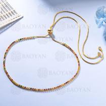 Collar de Multi Color Zircon en Bronce -BRNEG154-935