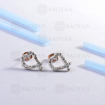 pendientes de acero inoxidable -SSEGG143-14804-R