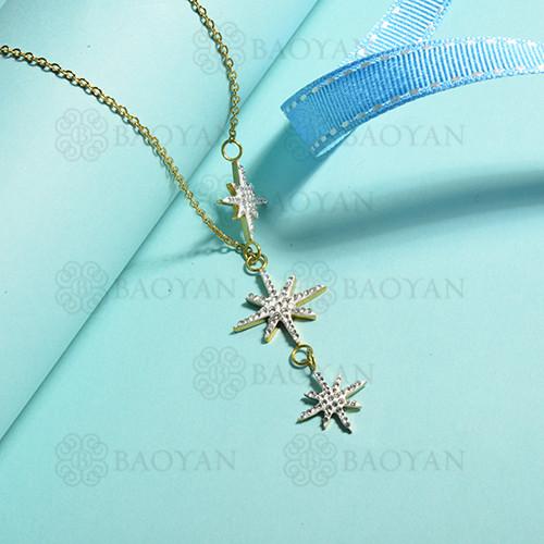collares de acero inoxidable para mujer -SSBEG143-14841-G