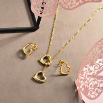 conjunto de collar y aretes en acero inoxidable -SSCSG126-15027