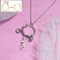 collar de DIY en acero inoxidable -SSNEG143-15474