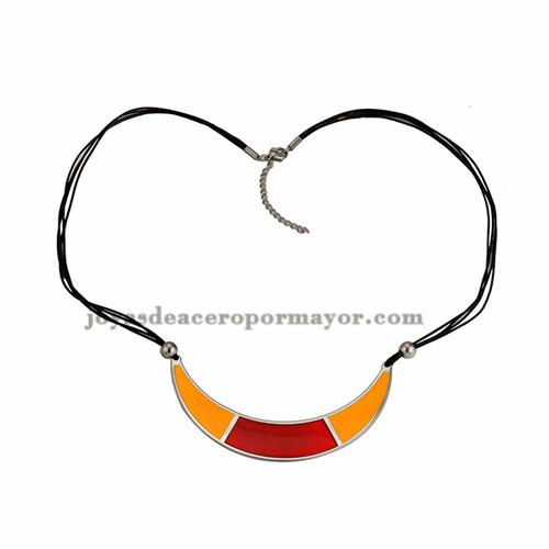 collar con luna especial  color en acero inoxidable para mujer -SSNEG67865