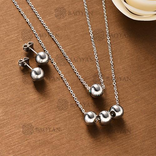 Conjunto Collar Multi Capa de Acero Inoxidable -SSNEG126-12132