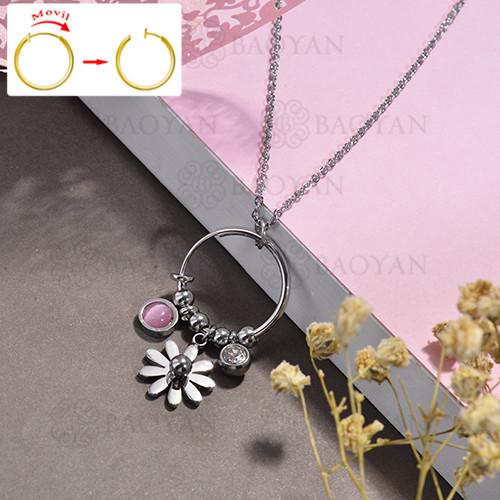 collar de DIY en acero inoxidable -SSNEG143-15505