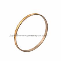 oferta de brazaletes plateado y oro dorado en joyas de acero inoxidable