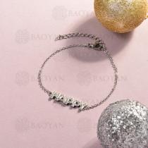Pulsera de Acero Inoxidable Cristal para Mujer -SSBTG143-14817-S