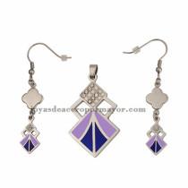 juego de joyas de moda plateado en acero inoxidable para mujer -SSSTG672816