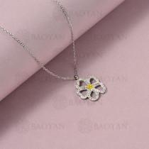 collar de acero inoxidable para mujer -SSNEG143-14832-S