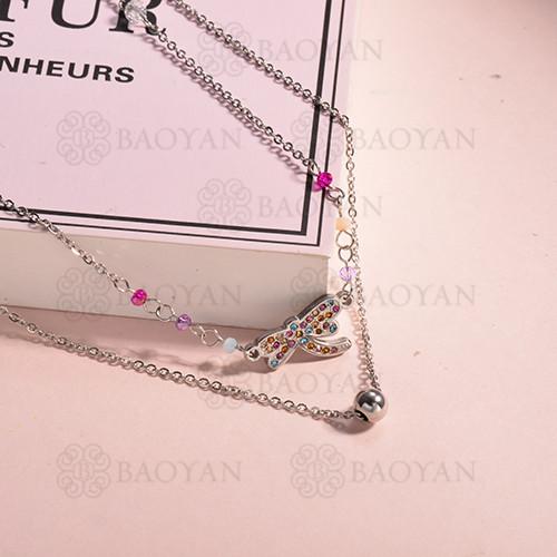 Collar de multi color en acero inoxidable -SSNEG142-14664
