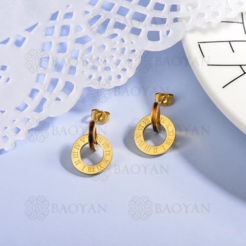 aretes de acero inoxidable para mujer -SSEGG143-15371