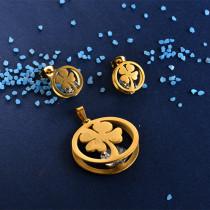Joyas de Acero Inoxidable de Color Oro Dorado -SSSTG81-8411