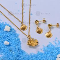 Conjunto de Collares de Concha Multi Capa -SSNEG142-12670