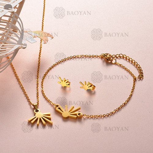 Joyas de Acero Inoxidable de Color Oro Dorado -SSNEG143-12214