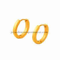 argollas 16mm dorado estilo simple en acero inoxidable para mujer -SSEGG273498