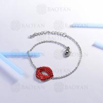 Pulsera de Acero Inoxidable Cristal para Mujer -SSBTG143-14803-S