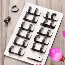 Huggies de Acero Inoxidable para Mujer -SSEGG102-6027