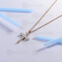 collar de acero inoxidable para mujer -SSNEG143-13101-R