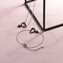 Conjunto de pulseras y Collar para Mujer en Acero Inoxidable -SSBNG143-14810-S