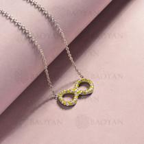 collar de acero inoxidable para mujer -SSNEG143-14822-S