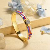 pulsera de charm en acero inoxidable para mujer -SSBTG40-16974