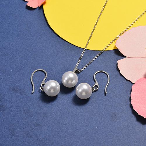 Conjunto de Collar y Aretes en acero inoxidable -SSCSG147-16752