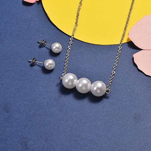 Conjunto de Collar y Pulsera en acero inoxidable -SSCSG147-16750