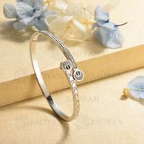 pulsera de charm en acero inoxidable para mujer -SSBTG40-16997
