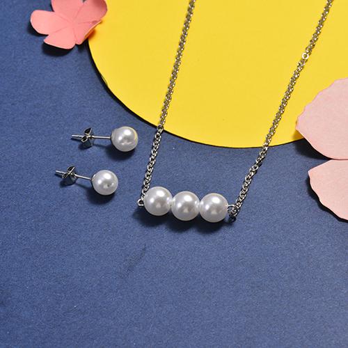Conjunto de Collar y Pulsera en acero inoxidable -SSCSG147-16749